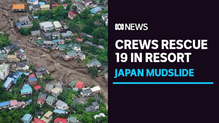Japanese crews rescue 19 from mudslides west of Tokyo as heavy rainfall persists  YouTubeチャンネル ABC  News(Australia)より