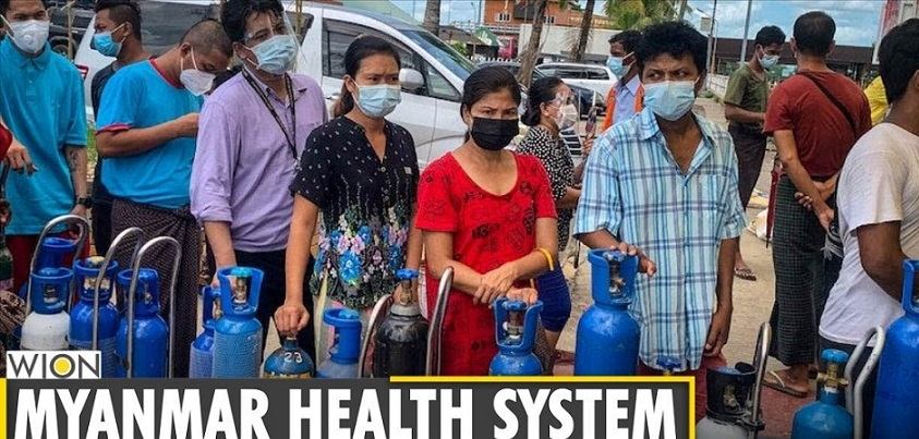 COVID-19 crisis worsens in Myanmar, record cases & deaths reported     YouTube チャンネル WIONより