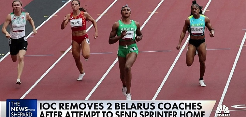 Belarusian Olympic sprinter escapes to Poland after coaches try to send her home        YouTubeチャンネル CNBC Television より