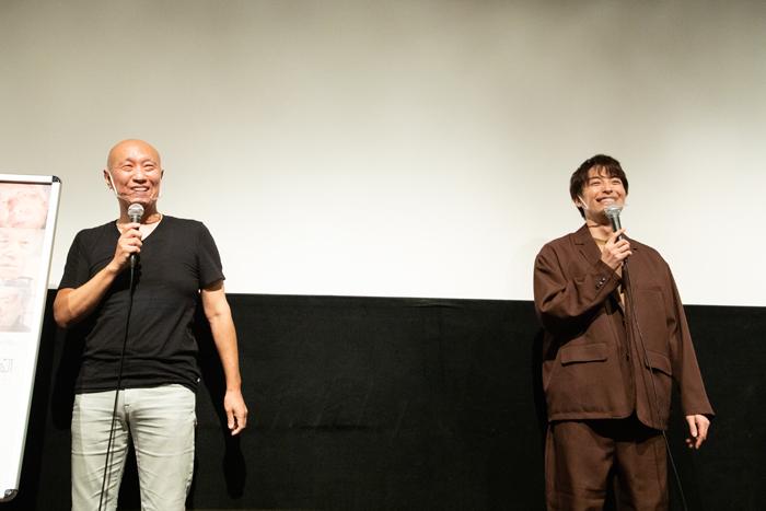 松本和巳監督(左)と海宝直人さん(右)=撮影・岩村美佳