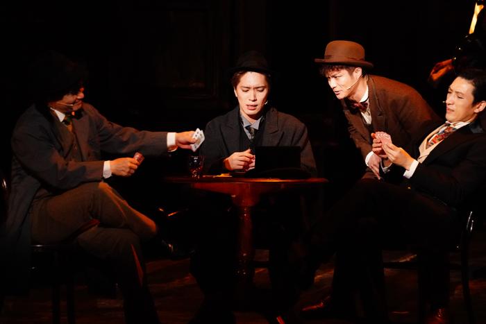 (左から)アンダーソン役の松下優也さんとモンロー役の田代万里生さん=撮影・田中亜紀