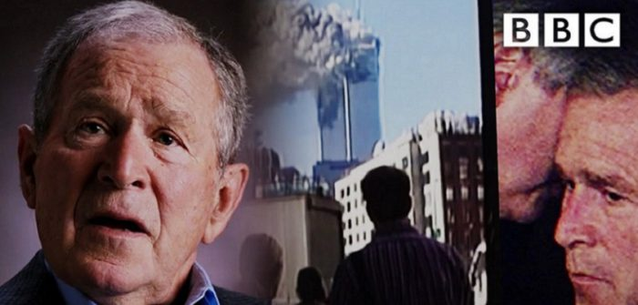 9/11: George Bush Finds Out About the Attack on the South Tower=YouTubeチャンネルBBCより