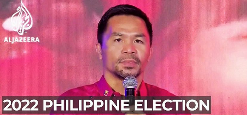 The boxing star Manny Pacquiao to run for Philippines president = YouTube チャンネルAl Jazeera English より