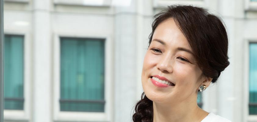 彩吹真央さん=撮影・岩村美佳